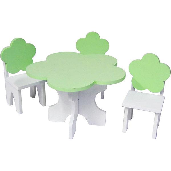 Купить Набор кукольной мебели Paremo Цветок , 4 предмета, Китай, светло-зеленый, Женский