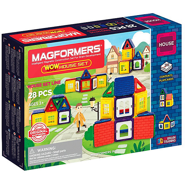 MAGFORMERS Магнитный конструктор Magformers Wow House Set, 28 деталей