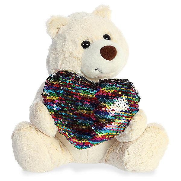 AURORA Мягкая игрушка Aurora Медведь большое сердце, 30 см
