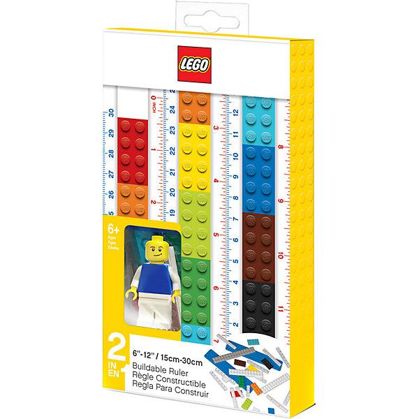Фото - LEGO Линейка-конструктор с мини-фигуркой LEGO Classic, 15-30 см lego записная книжка lego classic duck build с ручкой и мини фигурой 192 листа