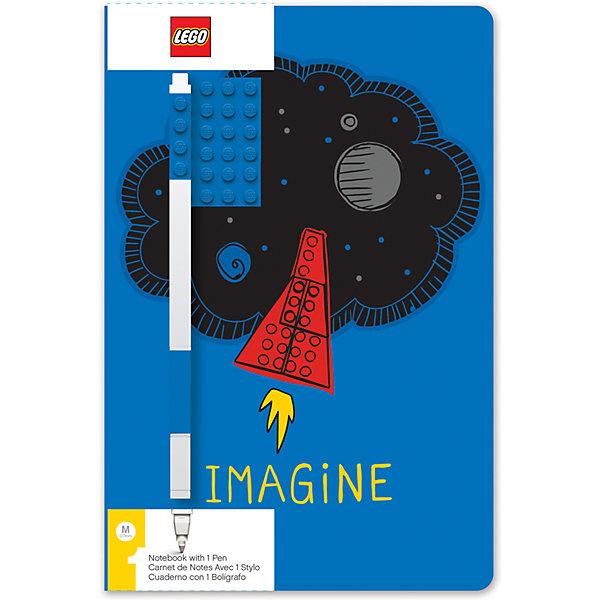 Фото - LEGO Записная книжка с ручкой LEGO Classic Imagine, 192 листа lego записная книжка lego classic duck build с ручкой и мини фигурой 192 листа