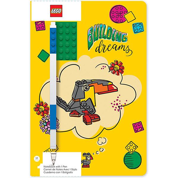 Фото - LEGO Записная книжка с ручкой LEGO Classic Building Dreams, 192 листа lego записная книжка lego classic duck build с ручкой и мини фигурой 192 листа