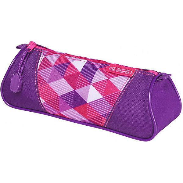 herlitz Пенал-косметичка Herlitz Triangular Pink Cubes herlitz пенал косметичка polina case pink cubes