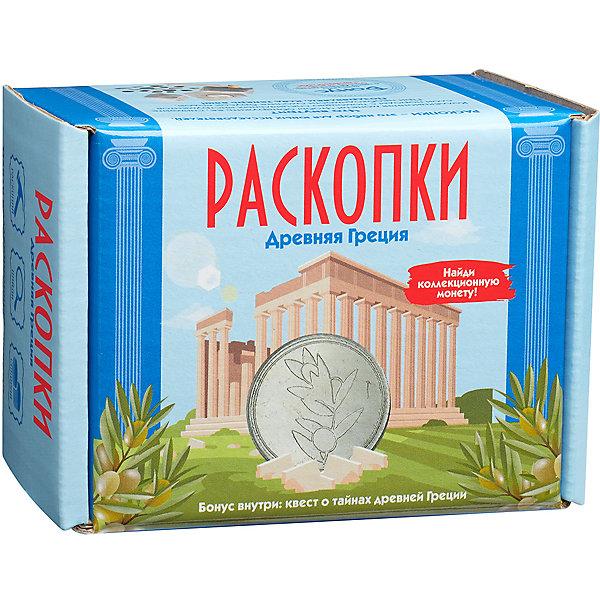 Настоящие раскопки Набор Настоящие раскопки Древняя Греция, с монетами светильник садовый автомобиль красный 31 5х16х14см