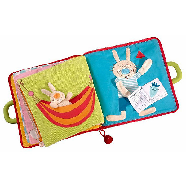 Lilliputiens Мягкая книжка Lilliputiens Один день кролика дракон уолтер корзина для игрушек lilliputiens
