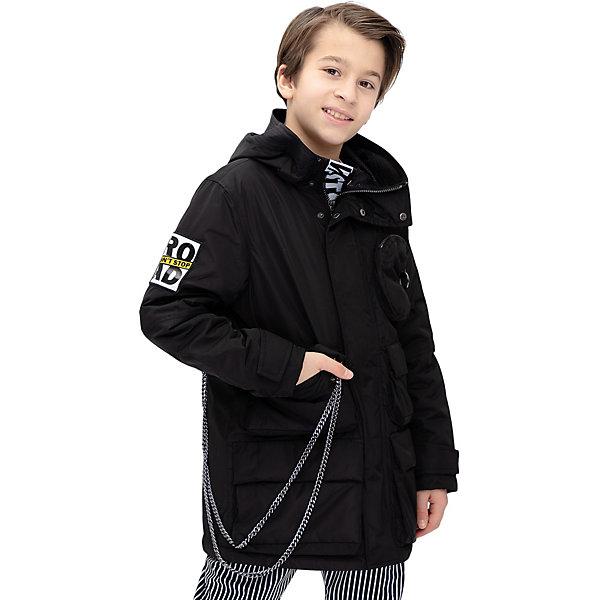 Купить Демисезонная куртка Gulliver, Китай, черный, 140, 170, 134, 146, 164, 152, 158, Мужской