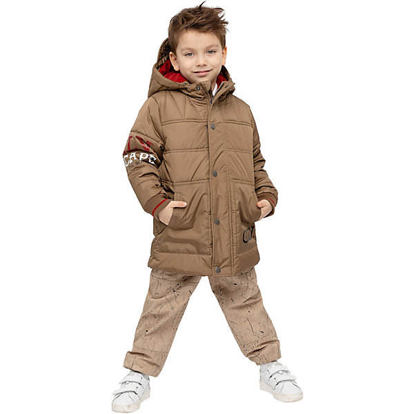 Купить Демисезонная куртка Gulliver, Китай, коричневый, 128, 116, 122, 104, 110, Мужской