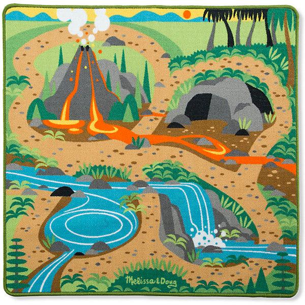 Купить Игровой коврик Melissa&Doug Динозавры, 98х84 см, Melissa & Doug, Китай, разноцветный, Унисекс