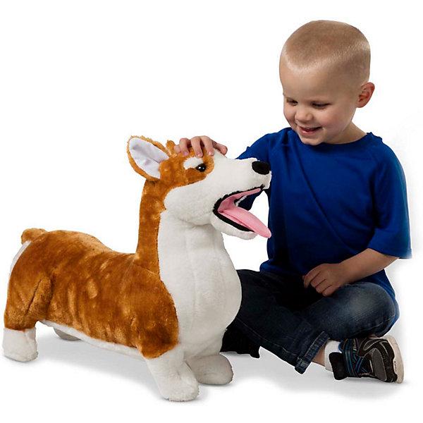 Купить Мягкая игрушка Melissa&Doug Собака Корги, Melissa & Doug, Китай, разноцветный, Унисекс