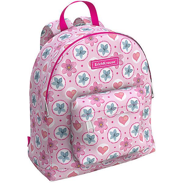 Купить Рюкзак Erich Krause EasyLine Mini Pink Flowers, Россия, розовый, Женский