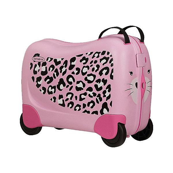 сумка samsonite сумка чемодан 55 см ziproll 40x55x20 см Samsonite Чемодан Samsonite Dream Rider Розовый леопард, высота 39 см