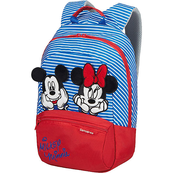 Samsonite Рюкзак Samsonite Disney Минни и микки полоски, размер S+ чемодан disney by samsonite микки алфавит 43c 11001 4 колесный s до 55 см 28 л