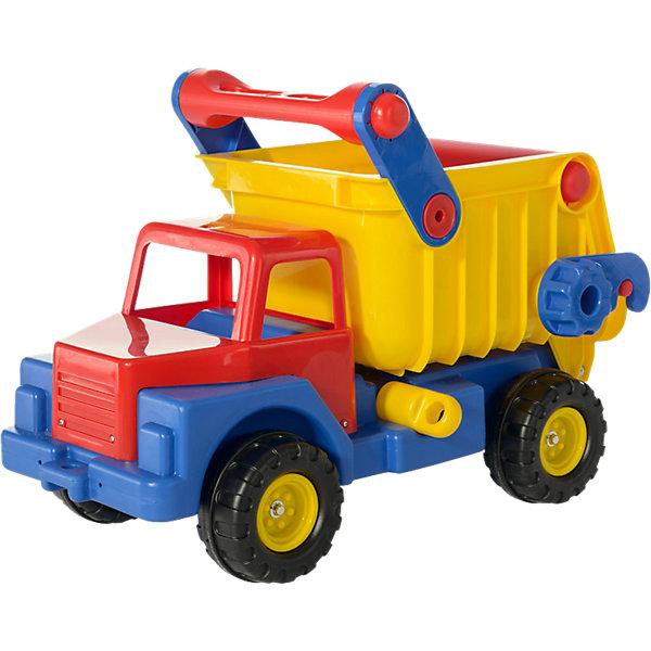 Автомобиль-самосвал №1, ПолесьеМашинки<br>Характеристики товара:<br><br>• возраст: от 2 лет<br>• материал: пластик<br>• цвет: желтый, красный, голубой.<br>• размер упаковки: 74.9 x 45.1 x 55.9 cм.<br>• вес: 5.339 кг.<br>• страна обладатель бренда: Белорусь<br><br>Великолепный самосвал от бренда Полесье не даст заскучать вашему малышу! С машинкой можно играть дома, но все свои возможности он сможет показать на улице, где много песка, камней и всего того, что можно погрузить ему в кузов! <br><br>Грузовик выдерживает разную нагрузку благодаря прочной конструкции, сделанной из высококачественного пластика, безвредного для здоровья. Самосвал понравится как мальчикам, так и девочкам, и игра в песочнице с ним станет для ребенка приятным занятием!<br><br>Автомобиль-самосвал №1, Полесье можно купить в нашем интернет-магазине.<br>Ширина мм: 670; Глубина мм: 440; Высота мм: 310; Вес г: 7054; Возраст от месяцев: 12; Возраст до месяцев: 48; Пол: Мужской; Возраст: Детский; SKU: 1456278;