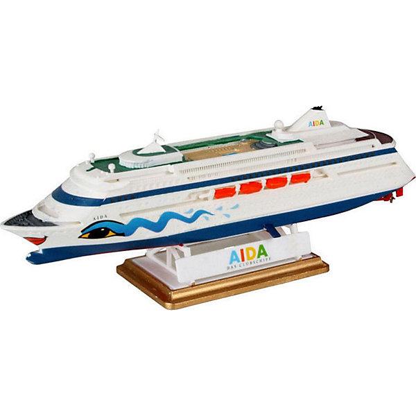 Набор Корабль AIDAКорабли и подводные лодки<br>Характеристики товара:<br><br>• возраст: от 8 лет;<br>• масштаб: 1:1200;<br>• количество деталей: 28 шт;<br>• материал: пластик; <br>• клей и краски в комплект не входят;<br>• длина модели: 16,1 см;<br>• бренд, страна бренда: Revell (Ревел), Германия;<br>• страна-изготовитель: Польша.<br><br>Набор для сборки «Корабль AIDA» поможет вам и вашему ребенку придумать увлекательное занятие на долгое время и весело провести свой досуг. <br><br>В набор для сборки входит модель  знаменитого корабля, состоящая из отдельных пластиковых деталей, которые должны быть склеены  в нужной последовательности, после чего готовая модель корабля окрашивается специальной краской. Необходимые для проведения процесса сборки краски, кисточка и клей, а также подробная инструкция  входят в комплект набора «Корабль AIDA».<br><br>Процесс сборки развивает интеллектуальные и инструментальные способности, воображение и конструктивное мышление, а также прививает практические навыки работы со схемами и чертежами. <br><br>Набор для сборки «Корабль AIDA», 28 дет., Revell (Ревел) можно купить в нашем интернет-магазине.<br>Ширина мм: 270; Глубина мм: 33; Высота мм: 270; Вес г: 260; Возраст от месяцев: 72; Возраст до месяцев: 1164; Пол: Мужской; Возраст: Детский; SKU: 1458423;