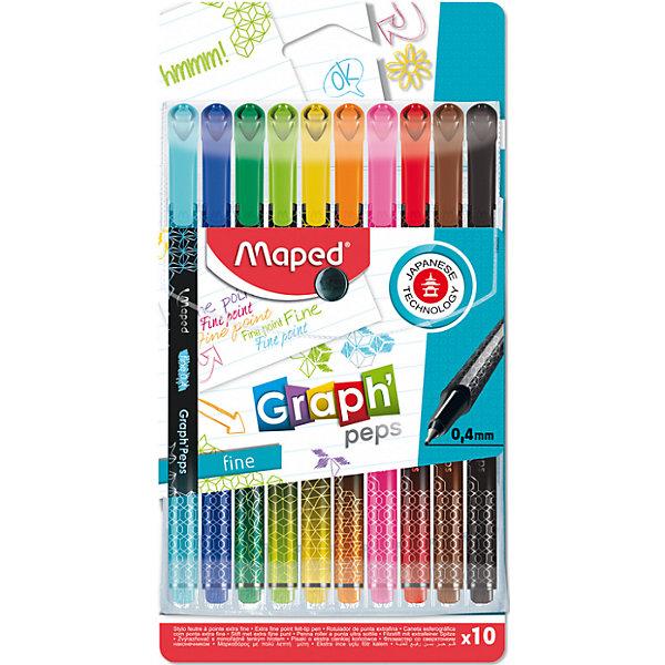 Купить Набор капиллярных ручек Maped Graph Pep's, 10 цветов, Франция, Унисекс