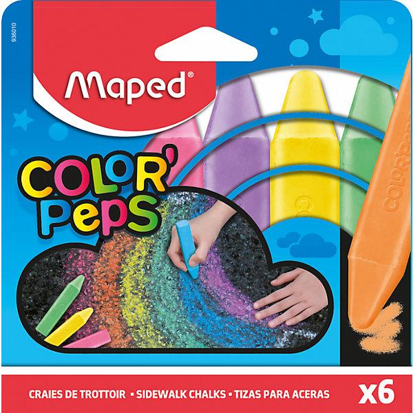 Купить Мелки Maped Color'Peps для рисования на асфальте, 6 цветов, Франция, Унисекс