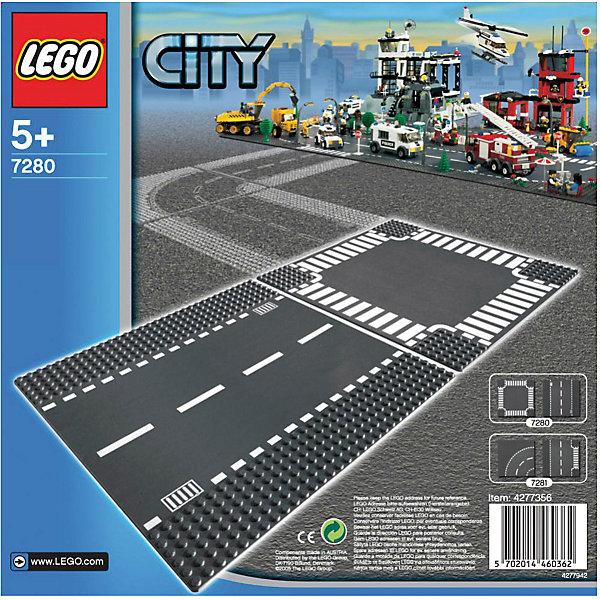 LEGO City  7280: Прямая дорога и перекрёстокПластмассовые конструкторы<br>LEGO City (ЛЕГО Сити) 7280: Прямая дорога и перекрёсток - увлекательный набор для конструирования, который порадует всех юных автолюбителей. В комплект входят две<br>пластины, изображающие участок прямой дороги и перекресток. Комбинируя данный набор с другими наборами ЛЕГО можно построить большую сложную трассу для своего<br>города, где будут и настоящее шоссе для автомобилей, и специальная секция с «зеброй» для пешеходов. Платформы также обладают специальным рельефом и обеспечивают<br>прочное сцепление с кубиками.<br><br>Дополнительная информация:<br><br>- Количество деталей: 2.<br>- Серия: ЛЕГО Сити.<br>- Материал: пластик.<br>- Размер упаковки: 25,6 х 7 х 25,6 см.<br>- Вес: 0,21 кг. <br><br>Игра с конструктором развивает мелкую моторику, фантазию и воображение ребенка, учит его усидчивости и внимательности.<br><br>LEGO City (ЛЕГО Сити) 7280: Прямая дорога и перекрёсток можно купить в нашем интернет-магазине.<br>Ширина мм: 272; Глубина мм: 259; Высота мм: 10; Вес г: 212; Возраст от месяцев: 60; Возраст до месяцев: 144; Пол: Мужской; Возраст: Детский; SKU: 1462463;