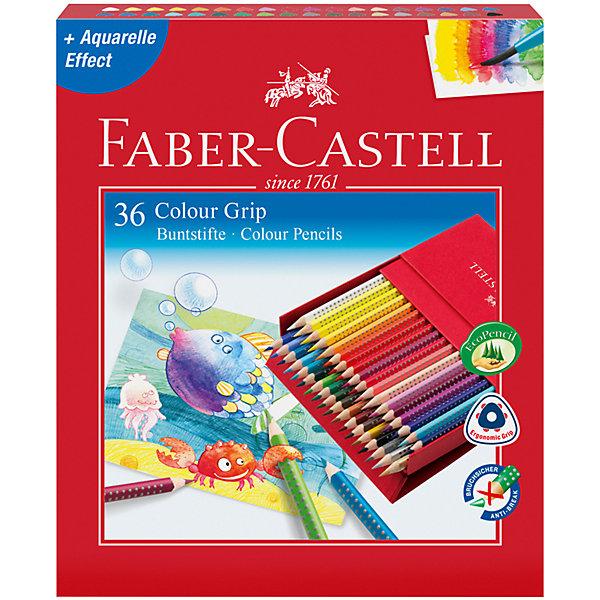 Faber-Castell Цветные карандаши Faber-Castell Grip, 36 цветов faber castell цветные карандаши faber castell jumbo grip metallic 5 цветов