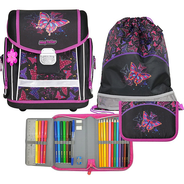 Ранец школьный MagTaller EVO, Rainbow Butterfly,