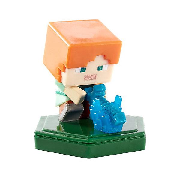 Mattel Мини-фигурка с NFC-чипом Minecraft Attacking Alex набор фигурок minecraft alex survival pack – series 3
