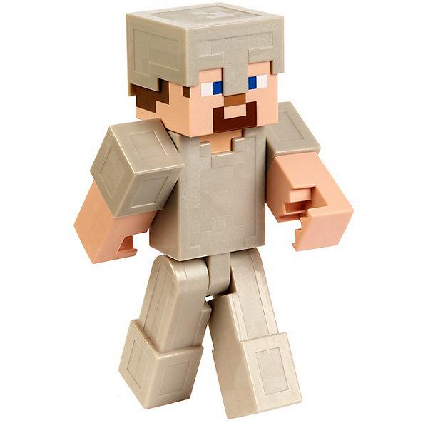 Большая фигурка Minecraft Steve In Iron Armor Mattel разноцветного цвета