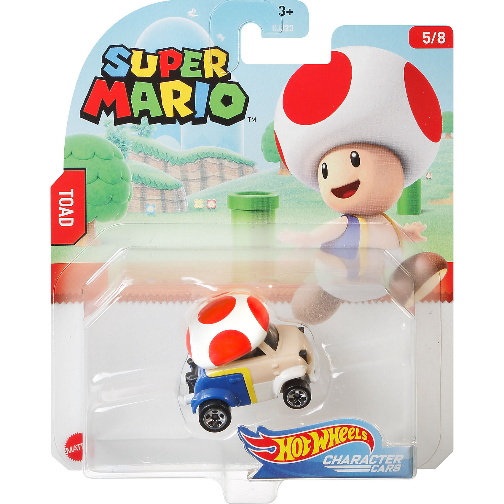 Машинка Hot Wheels Super Mario Тоад, 1:64 по цене 669
