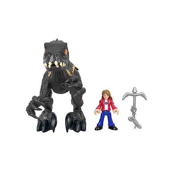 цена на Mattel Игровой набор Imaginext Jurassic World Мейзи и индораптор