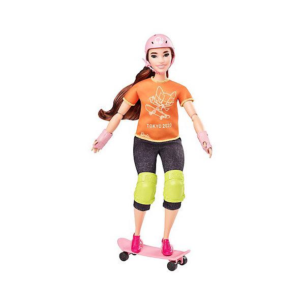 Купить Кукла Barbie Олимпийская спортсменка Скейтбординг, Mattel, Индонезия, разноцветный, Женский