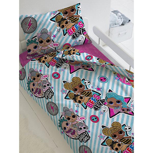 цена Непоседа Комплект постельного белья 1,5 сп LOL Surprise! Stars, наволочки 50х70 см онлайн в 2017 году