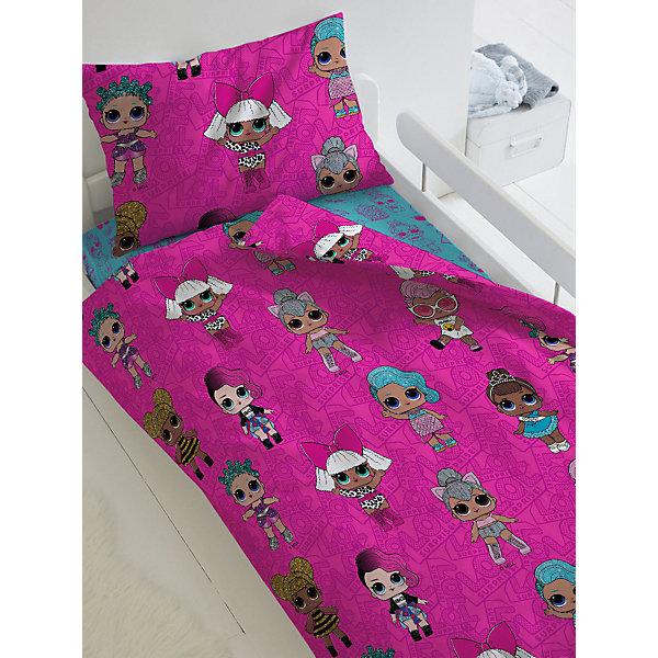 цена Непоседа Комплект постельного белья 1,5 сп LOL Surprise! Dolls, наволочки 50х70 см онлайн в 2017 году