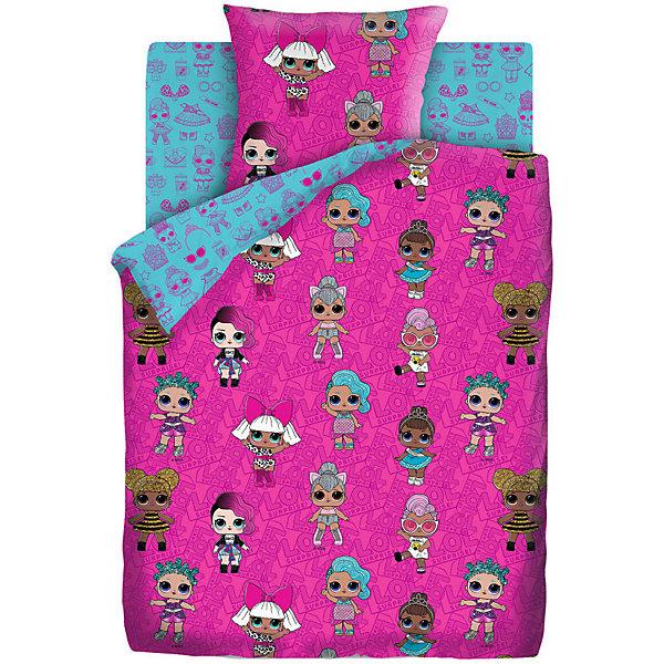 цена Непоседа Комплект постельного белья 1,5 сп LOL Surprise! Dolls, наволочки 70х70 см онлайн в 2017 году