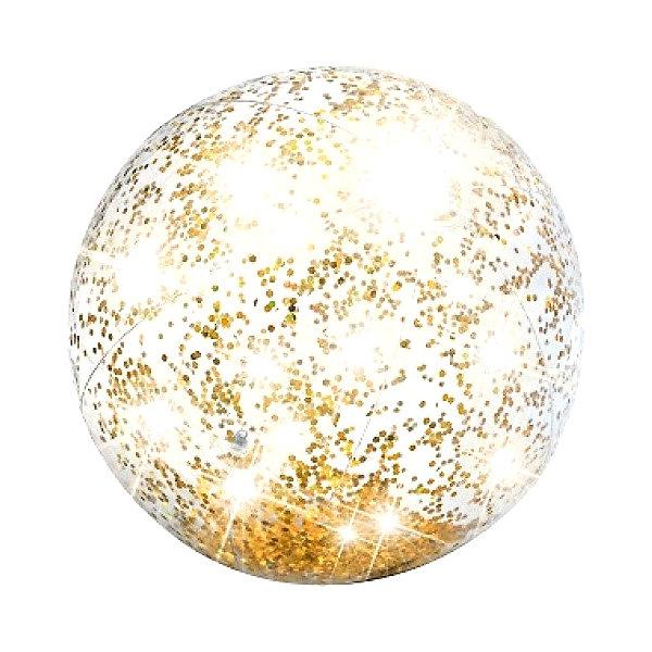 Intex Надувной пляжный мяч с блестками Intex феданова ю авт сост энциклопедия маленького почемучки что когда зачем почему