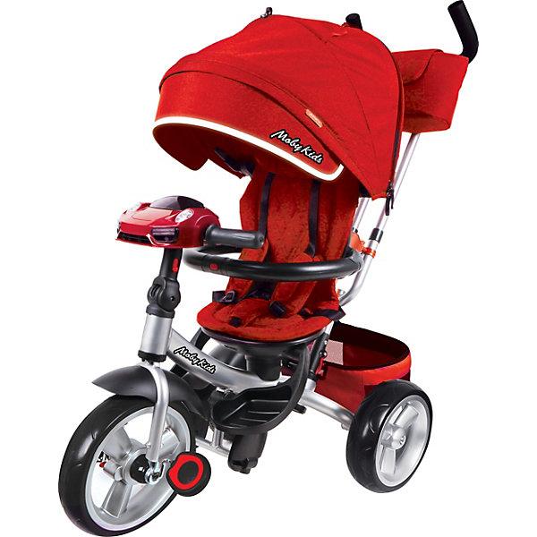 Купить Трёхколёсный велосипед Moby Kids New Leader Air Car 360°, 12x10, Китай, бордовый, Женский