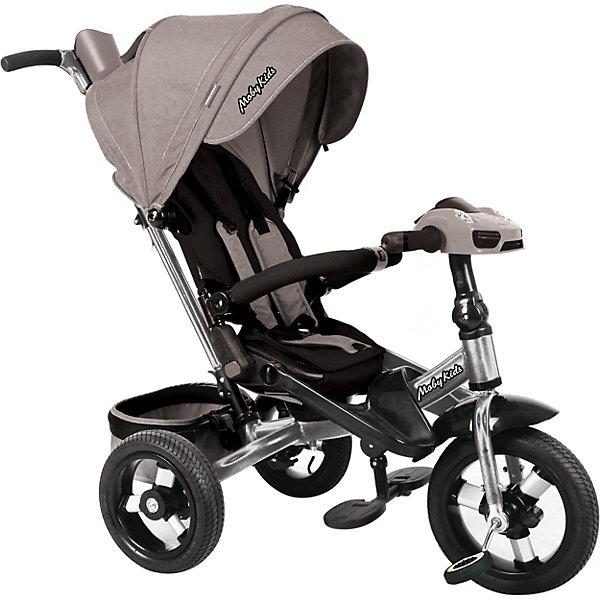 Купить Трёхколёсный велосипед Moby Kids New Leader Air Car 360°, 12x10, Китай, серый, Унисекс