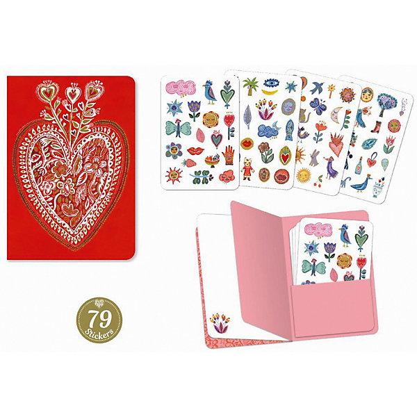 "Картинка для Блокнот с наклейками Djeco Lovely Paper ""Аурелиа"", 79 штук"