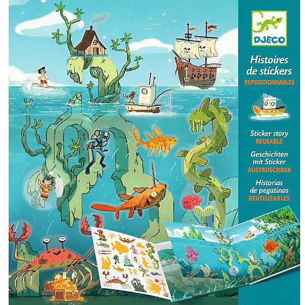 Купить Набор с наклейками Djeco Путешествие по морю , Китай, разноцветный, Унисекс