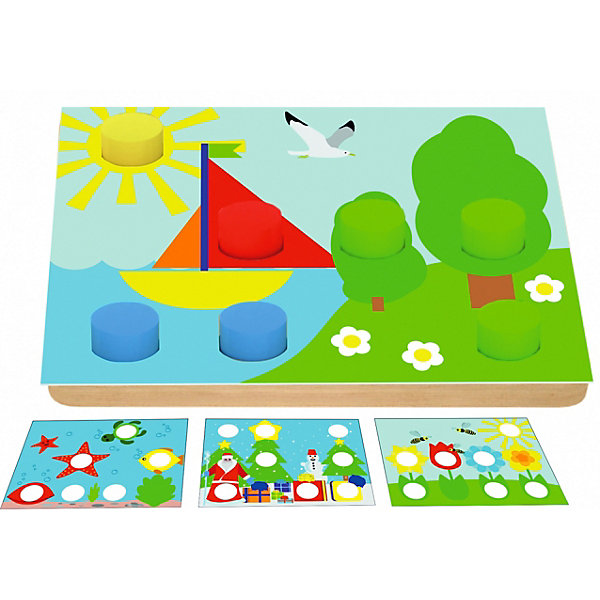 цена на Краснокамская игрушка Рамка-вкладыш Краснокамская игрушка Цветные пеньки