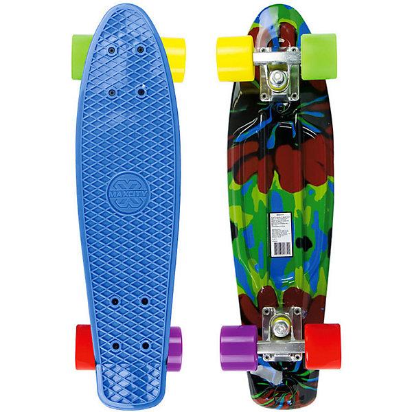 MaxCity Скейтборд MaxCity Plastic Board Smash small скейтборд pwsport classic цвет розовый зеленый дека 22