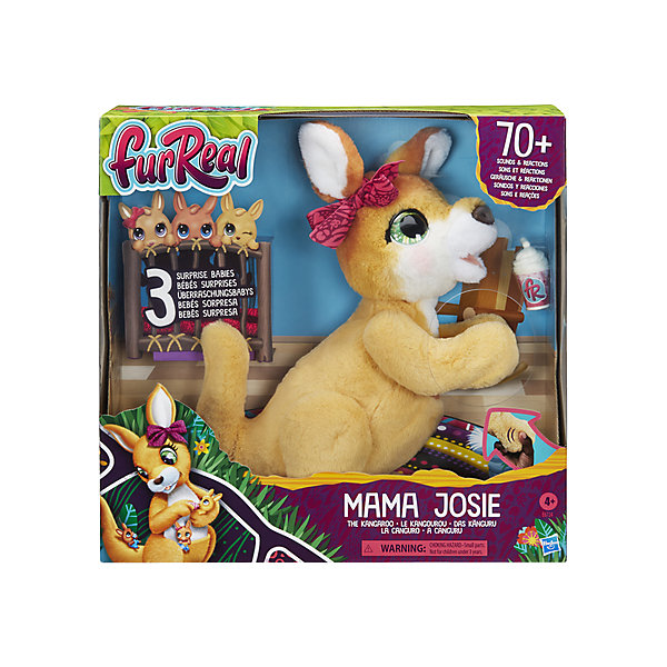 Фото - Hasbro Интерактивная игрушка FurReal Friends Кенгуру Джози и ее малыши джози