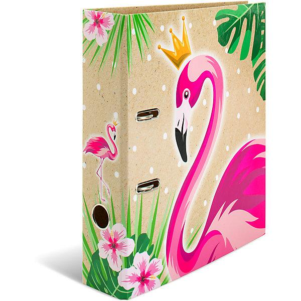 Папка картон a4 тропики королева фламинго Herma 14862417