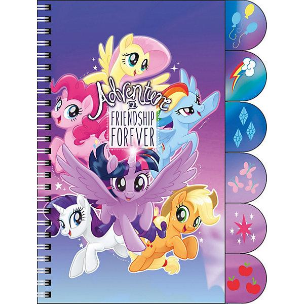 Фото - Академия групп Ноутбук My Little Pony с цветными разделителями 60л ноутбук