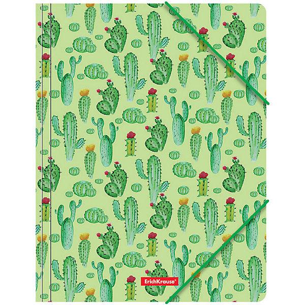 Erich Krause Папка на резинках Erich Krause Tropical Cactus разделитель цветовой erich krause 10 цветов формат а4