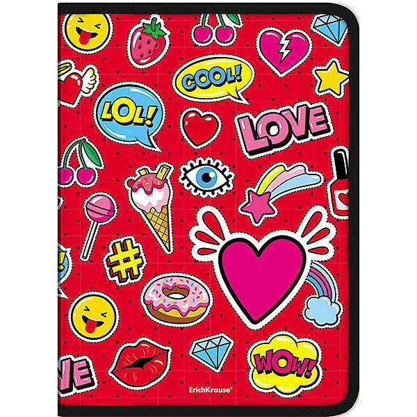 Erich Krause Папка для тетрадей на молнии Erich Krause Sweet Love разделитель цветовой erich krause 10 цветов формат а4