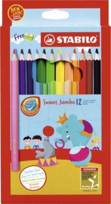 STABILO Набор цветных карандашей Stabilo Swans Jumbo, 12 цветов