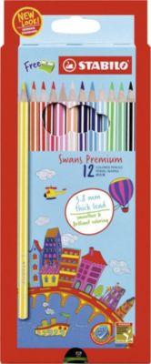 STABILO Набор цветных карандашей Stabilo Swans Premium edition, 12 цветов