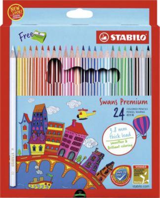 STABILO Набор цветных карандашей Stabilo Swans Premium edition, 24 цвета