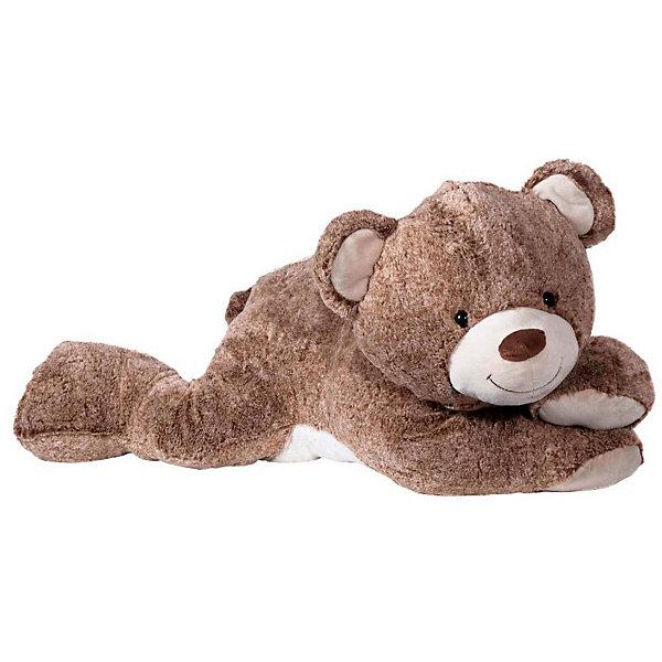 Molly Мягкая игрушка Molli Мишка лежачий,, 80 см мягкая игрушка мишка бони maxitoys mt ts031208 50s искусственный мех трикотаж коричневый 50 см
