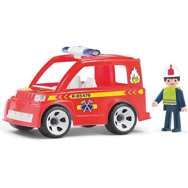 Efko Машинка Efko Пожарный автомобиль с водителем, 17 см efko игровая фигурка efko пожарный 8 см с аксессуарами
