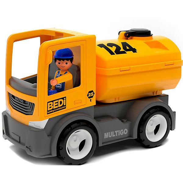 Купить Машинка Efko Строительный грузовик-цистерна с водителем, 22 см, желтый, Мужской
