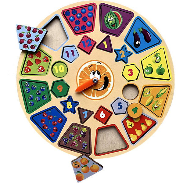 PAREMO Обучающая игра Paremo Часики Фрукты paremo обучающая игра paremo ассоциации 30 элементов